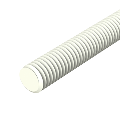 Threaded rod PP - POM - PVDF - PA66