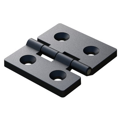 Asymmetric hinge with 4 flat holes
