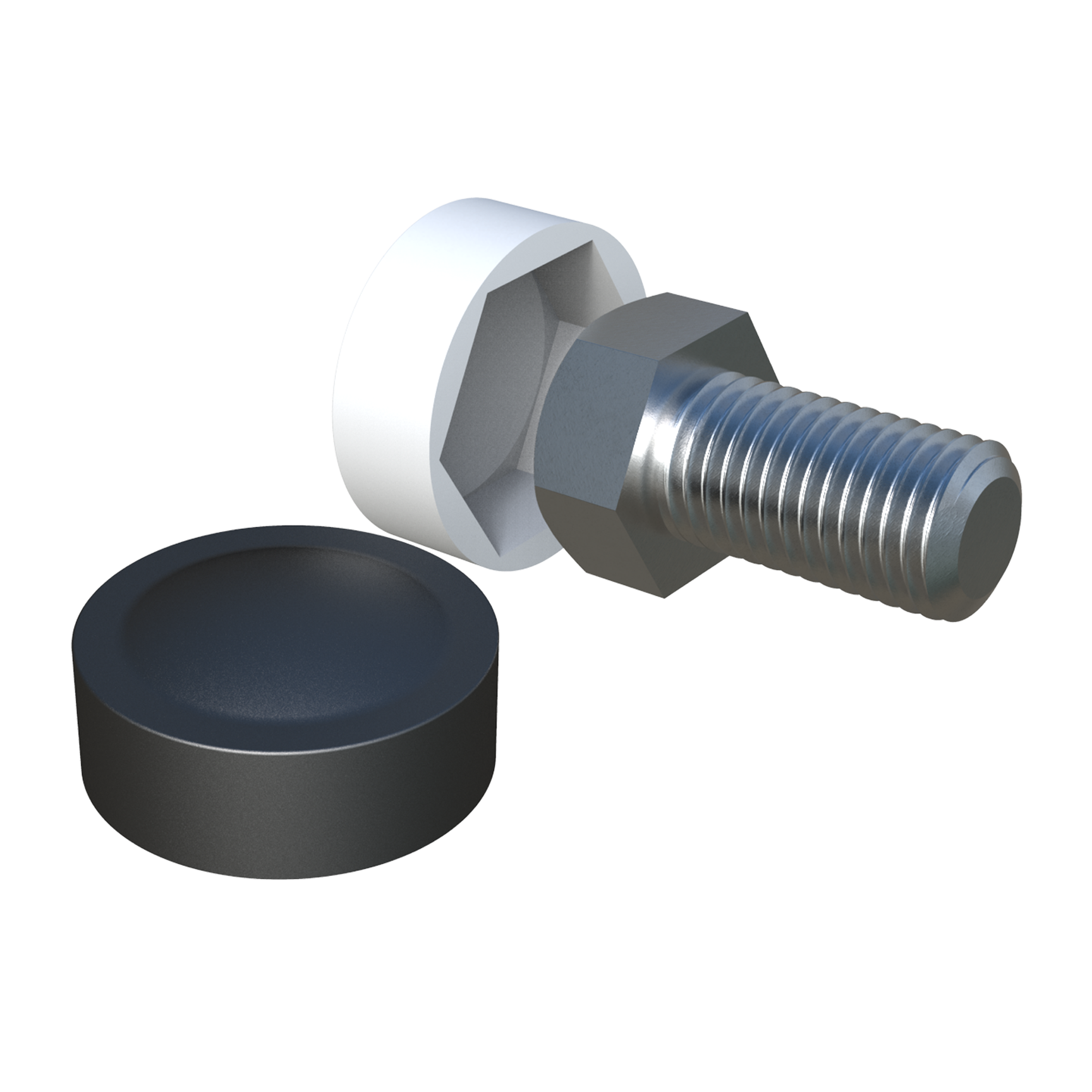Cap for hex screws