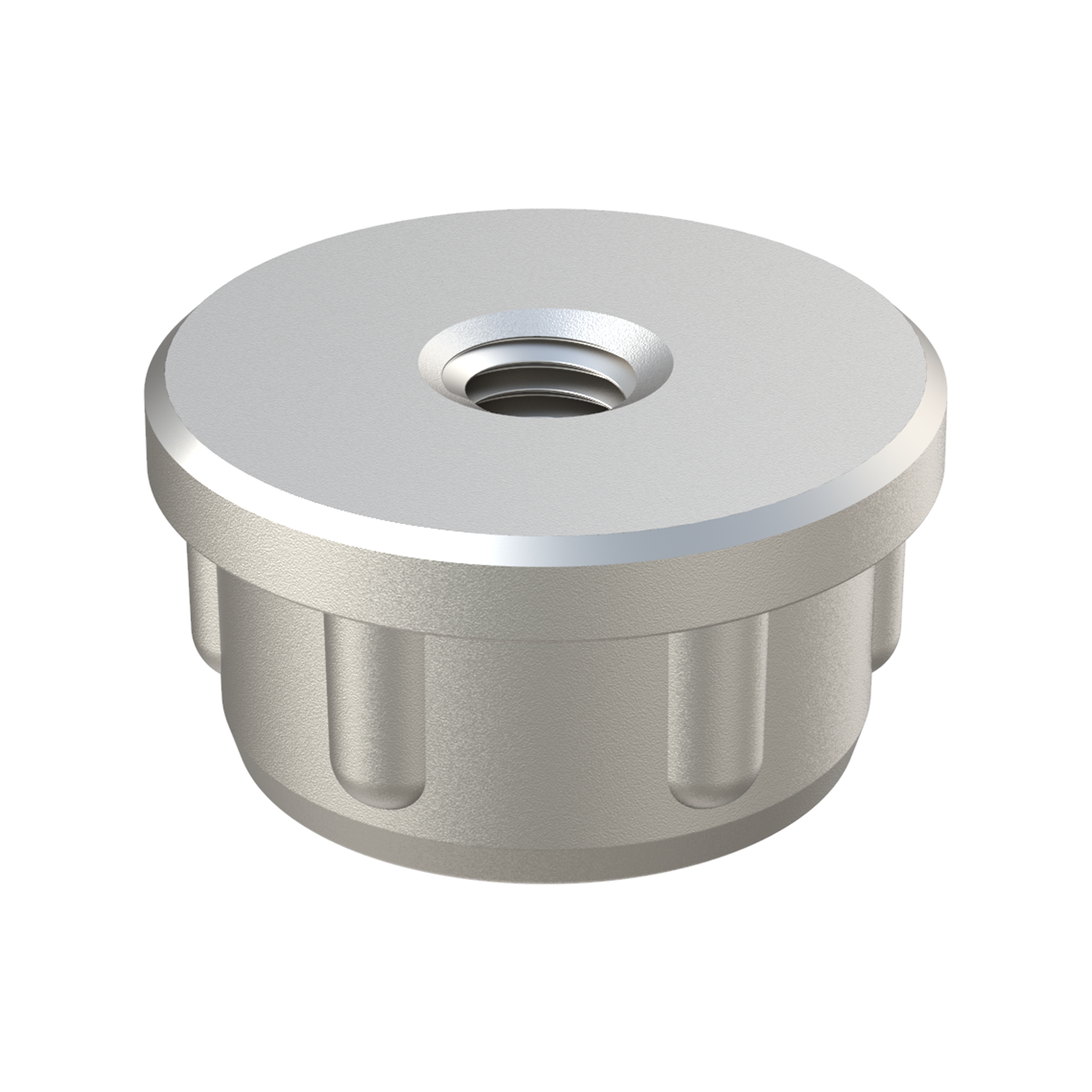 Round threaded zamak tube insert