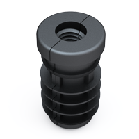 Our ribbed insert has been designed in two parts with an injected plastic thread.