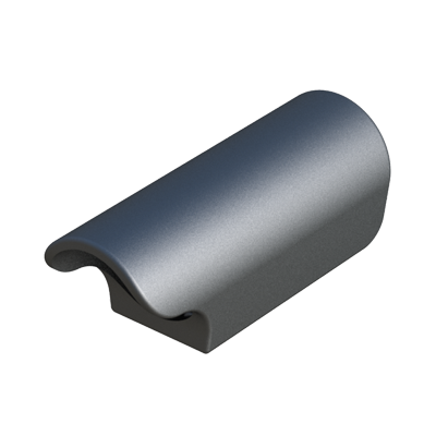 Round tube ferrule with felt base or PP base