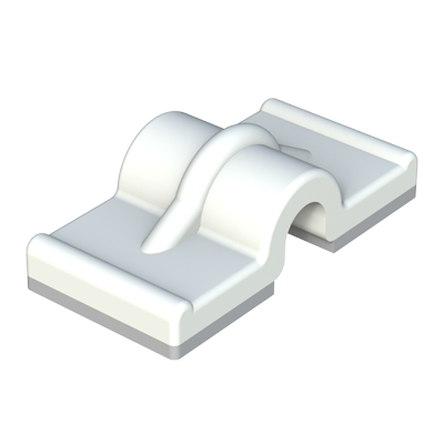 Double adhesive cable clip