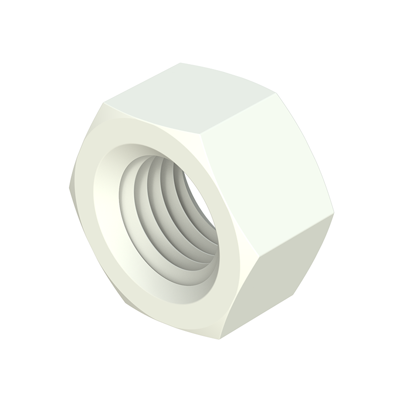Metric thread hexagonal nut PA - PAGF - PP - POM - PVDF -PEEK