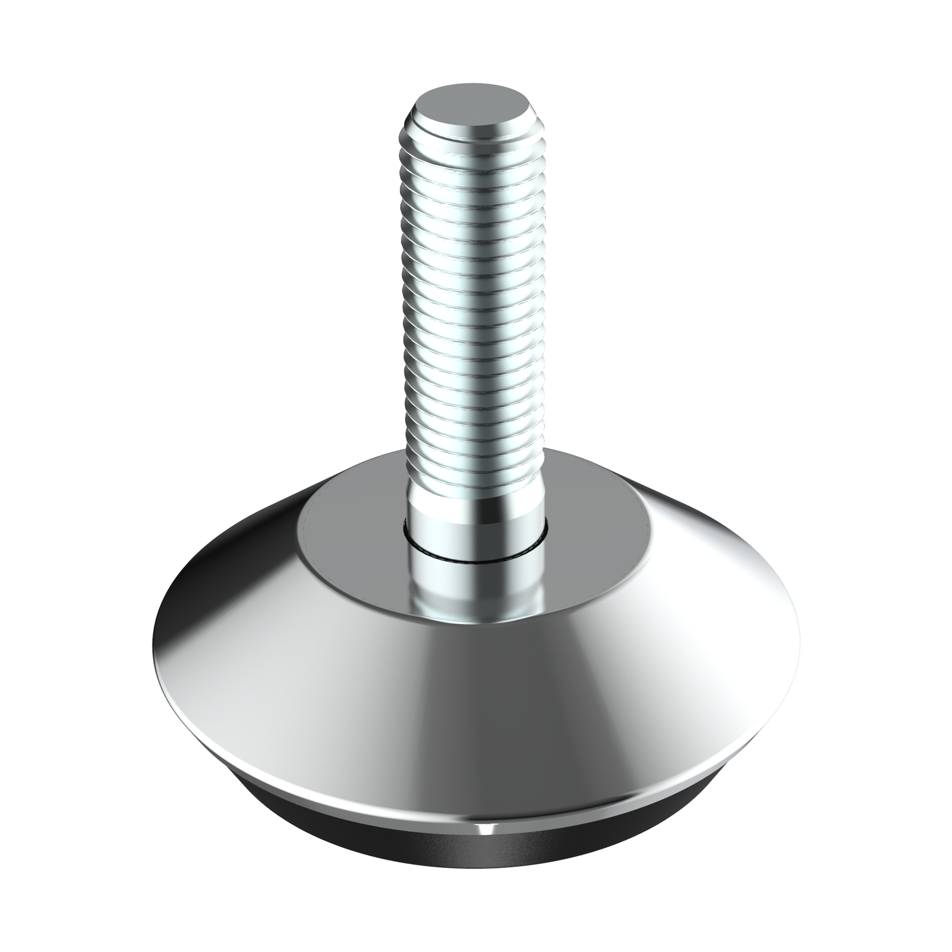 Our round adjustable foot has a steel cover. If you need it with an hexagonal nut for an easier assembly, see our family LHDE. If you want the part with movement or tilting, please visit our family MFDD.