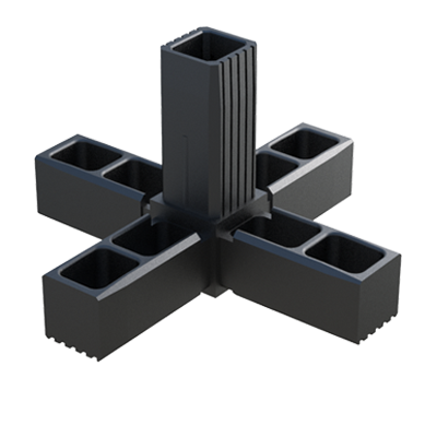 A connector for square tubes