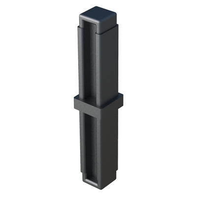 Straight connector for square tubes