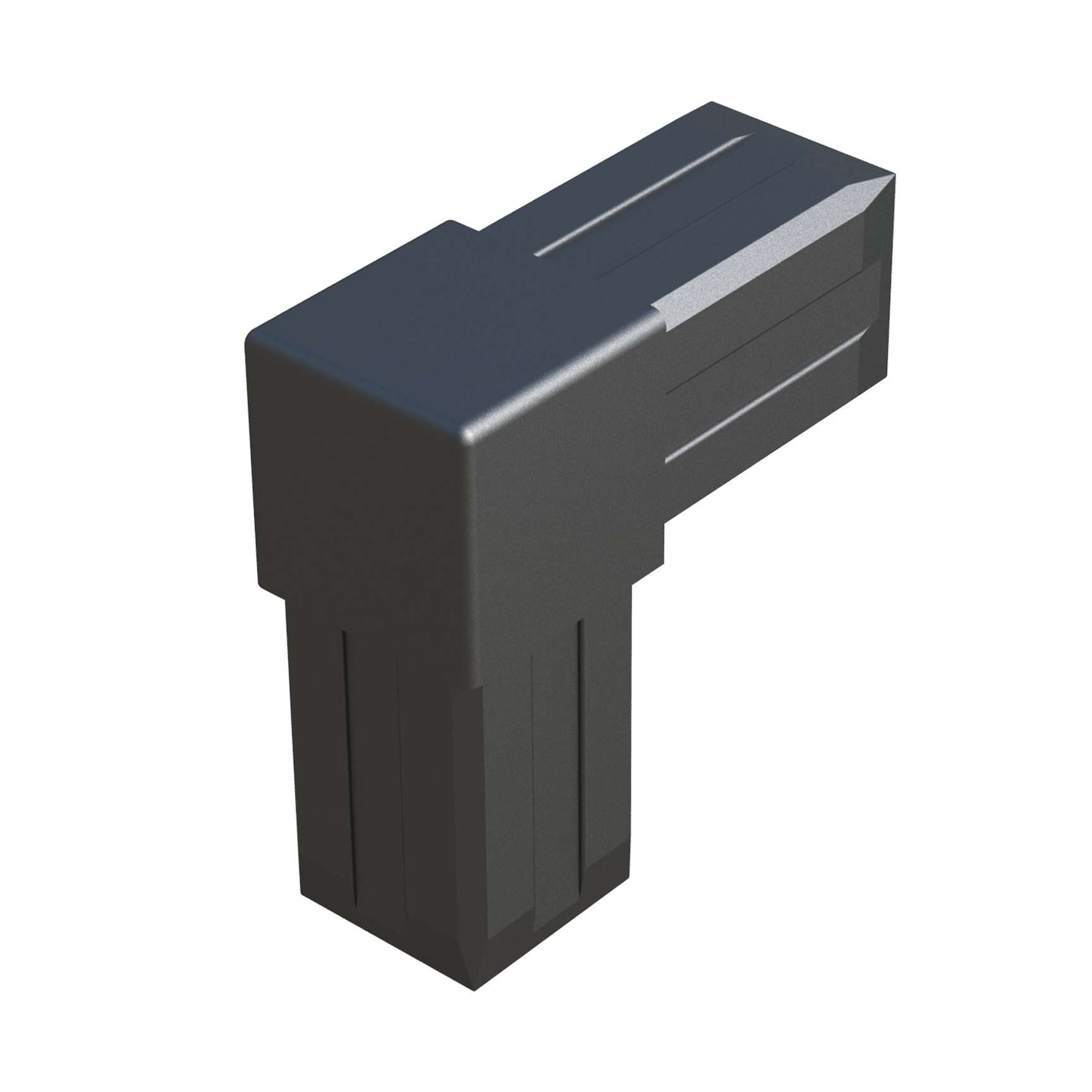 L connector for square tubes