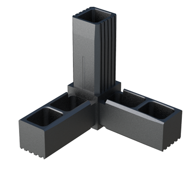 Y connector for square tubes